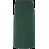 Iconic Front Split Wool Midi Skirt - Skirts -