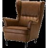 Ikea leather brown sofa - Mobília -