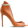 Illus. of Caramel Shoes with Strap - Sandale -