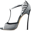 Illus. of Striped Shoes - Sandals -