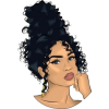 Illustration of Woman with High Curly Bu - Drugo -