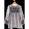 Indian gauze blouse - 半袖シャツ・ブラウス -