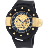 Invicta Men's 0868 S1 Automatic Gold Tone Skeleton Dial Black Polyurethane Watch - ウォッチ - $299.95  ~ ¥33,759