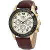 Invicta Men's 10709 Speedway Chronograph Gold Dial Brown Leather Watch - Watches - $94.99  ~ £72.19
