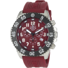 Invicta Men's 1105 Pro Diver Chronograph Burgundy Dial Rubber Watch - Watches - $74.99