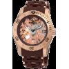 Invicta Men's 1260 Sea Spider Mechanical Skeleton Dial Brown Polyurethane Watch - Satovi - $169.99  ~ 146.00€