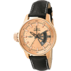Invicta Men's 6518 Force Collection Lefty 18k Rose Gold-Plated Black Leather Watch - Watches - $99.99