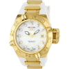 Invicta Women's 0540 Subaqua Noma IV Collection 18k Gold-Plated Stainless Steel and White Polyurethane Watch - Watches - $279.99