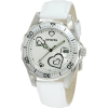 Invicta Women's 12401 Pro Diver Silver Heart Dial White Leather Watch - Watches - $99.99