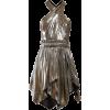 Isabel Marant Kary metallic-crepe mini d - Vestidos -