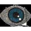 Isla Olho crystal eye clutch  - Carteras tipo sobre -