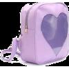 ItaBag Purple Transparent Heart Backpack - Backpacks -
