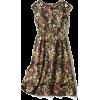 Italian Flower Pattern Jacquard One Piec - sukienki -
