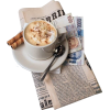 Italian newspaper/money and coffee - Items -