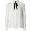 Ivory Frilled Bow Tie Shirt - Long sleeves shirts -