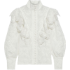 Ivory Glassy Wave lace-paneled ruffled - Camicie (lunghe) -