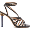 JACQUEMUS  Pisa mismatched-heel leather - Sandali -
