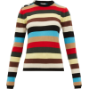 JCrystal-button stripe cashmere sweater - Pullover -