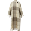 JIL SANDER Checked and tassel-trimmed wo - Jacken und Mäntel -