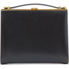 JIL SANDER Metal-frame leather clutch ba - Clutch bags -