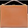 JIL SANDER Metal-frame leather clutch ba - Torbe s kopčom -
