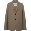 JIL SANDER brown wool blazer - Jacket - coats -