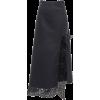 JIL SANDER navy macrame detailed leather - Skirts -