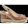 JIMMY CHOO Amely 80 leather wedge sandal - Keilabsatz -