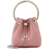 JIMMY CHOO Bon Bon satin bucket bag - ハンドバッグ -