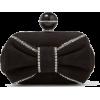JIMMY CHOO CLOUD Black Suede Clutch Bag - Clutch bags -