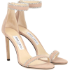 JIMMY CHOO Dochas 100 suede sandals - Sandals -