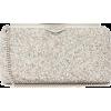 JIMMY CHOO Ellipse glittered leather clu - Clutch bags -