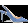 JIMMY CHOO Erin 85 suede slingback pumps - Klasične cipele -