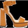 JIMMY CHOO Jax 125 leather platform sand - Sandale -