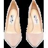 JIMMY CHOO  Romy 100 glitter leather pum - Klasični čevlji -