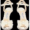 JIMMY CHOO Sacora 100 faux-pearl embelli - Sandálias -