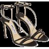 JIMMY CHOO THAIA 100 Black Gio Metallic - Sandale -