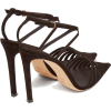 JIMMY CHOO Thu 100 suede cage heels - 经典鞋 -