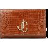 JIMMY CHOO VARENNE CLUTCH Cuoio Croc Emb - Clutch bags - 750.00€  ~ $873.23