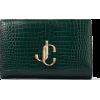 JIMMY CHOO VARENNE CLUTCH Dark Green Cro - Clutch bags - 750.00€  ~ $873.23