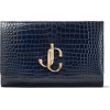 JIMMY CHOO VARENNE CLUTCH Navy Croc - バッグ クラッチバッグ - 750.00€  ~ ¥98,280