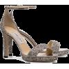 JIMMY CHOO metallic silver misty glitter - Sandale -