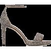 JIMMY CHOO metallic silver misty glitter - Sandalen -