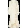 JOHANNA ORTIZ wrap cotton midi dress - sukienki -