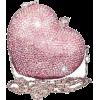 JUDITH LEIBER/Pink Jewel a Heart Clutch - Torby z klamrą -