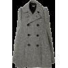 JUNYA WATANABE grey & black tweed coat - Jaquetas e casacos -