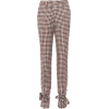 JW ANDERSON Checked wool skinny pants - Capri & Cropped -