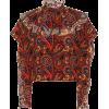 JW ANDERSON Paisley-printed silk blouse - フラットシューズ -