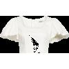 Jacey Stretch Organic Cotton Crop Top, A - Camicie (corte) -