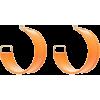 Jacquemus Leather Hoop Earrings - 耳环 -